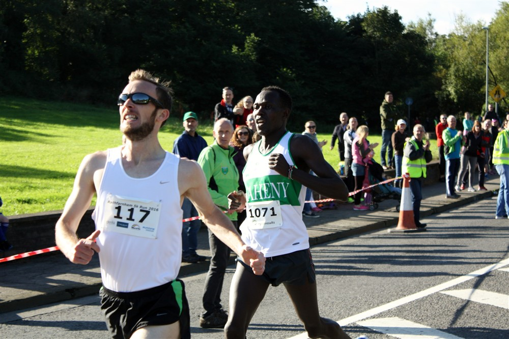 Mark Christie Mullingar winner Rathfarnham 5k Run 2016
